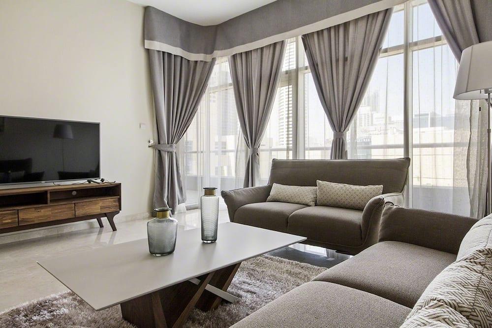 Bespoke Residences -Bay Square  One Bedroom Creek View - Living Room