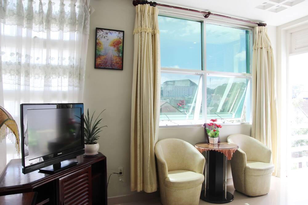 Superior dubbelrum - balkong - utsikt mot staden - Vardagsrum
