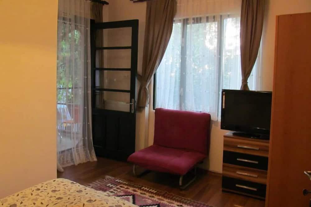 Trivietis kambarys (Shared Balcony) - Svetainės zona