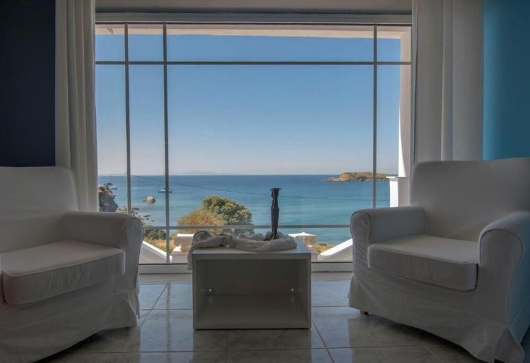 Poseidon Beach Villas , Lauréotique, Appartement, 1 chambre, vue mer (Camelot), Chambre
