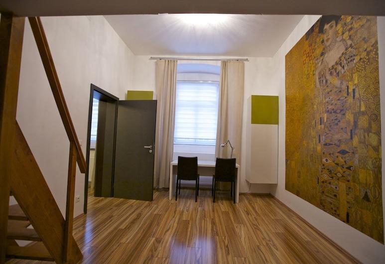 Klimt Apartments, Bécs, Classic apartman, 1 hálószobával, konyha, Szoba