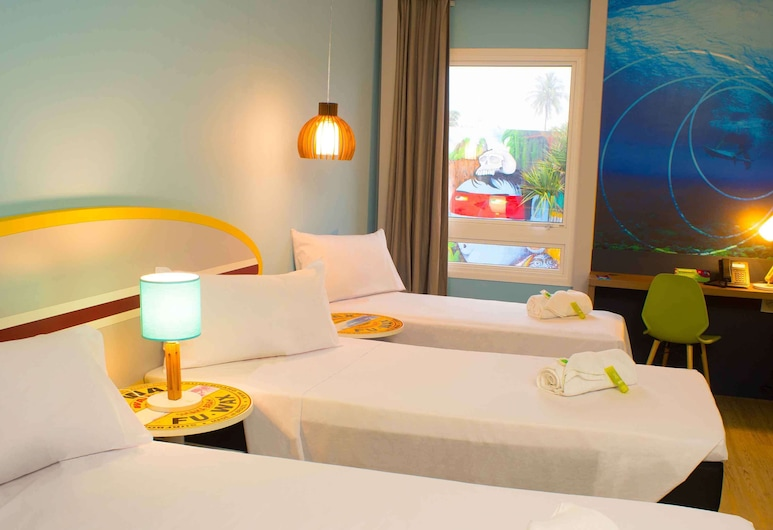 ibis Styles Guaruja, Guaruja, Standard Apartment, 3 Twin Beds, Guest Room