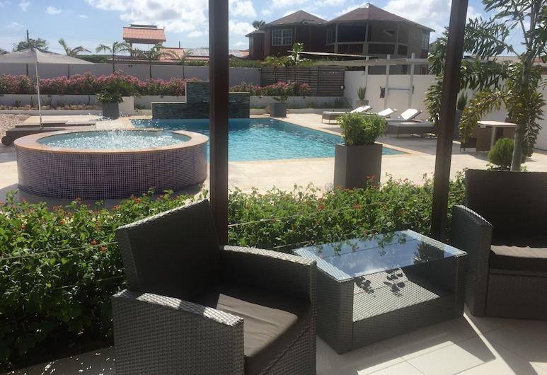 Malika Apartments, Sabana Westpunt, Apartment, 1 Bedroom, Mountain View, Poolside, Terrace/Patio