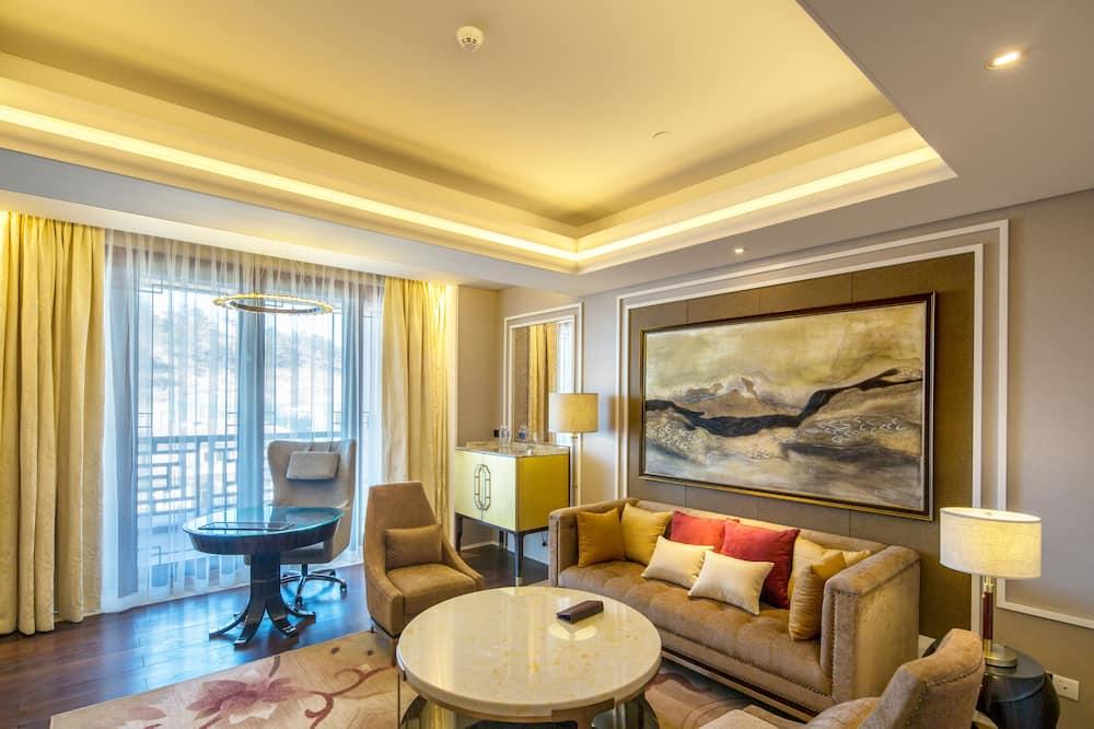 Phòng Suite Deluxe, 1 giường cỡ king - Phòng khách
