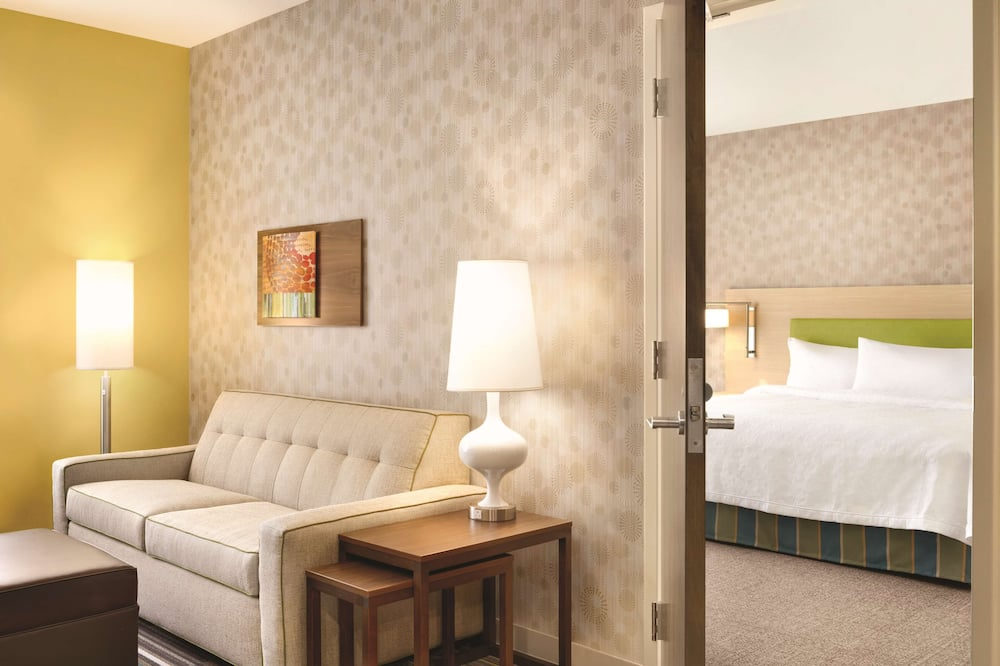 Suite, 1 King Bed, Accessible, Non Smoking (Hearing) - Living Area