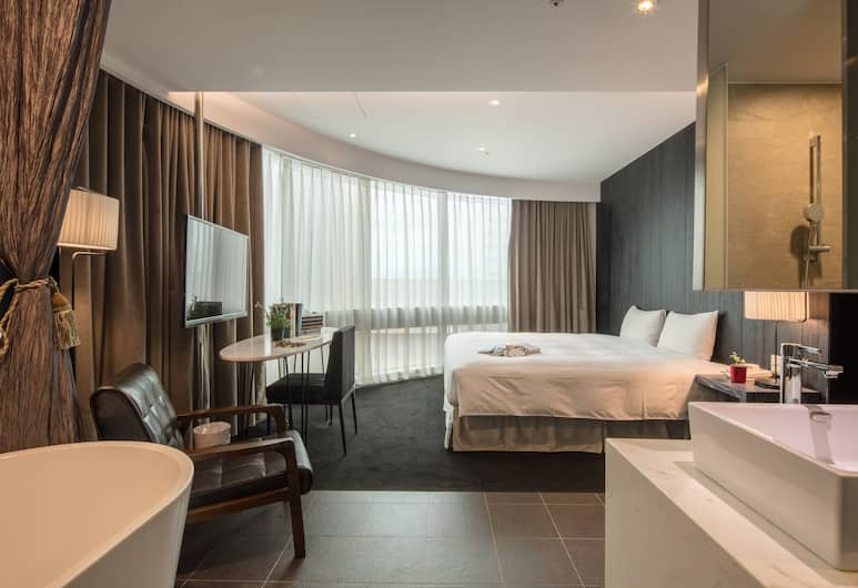 Finders Hotel, Taipei, Grand tweepersoonskamer, 1 queensize bed, Bad, Kamer