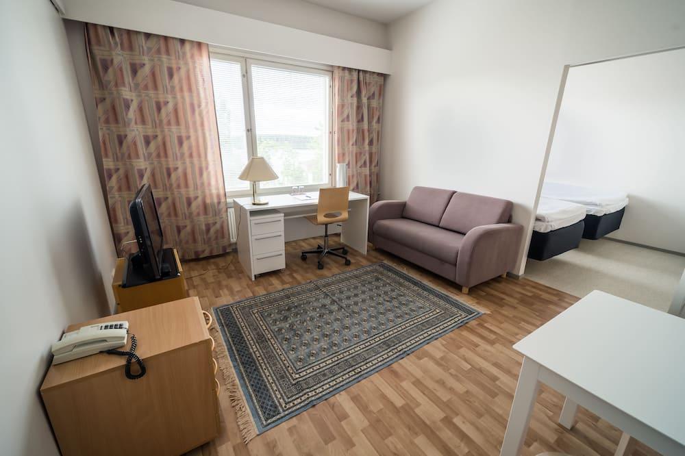 Standardværelse med 2 enkeltsenge (with a possibility of an extra bed) - Opholdsområde