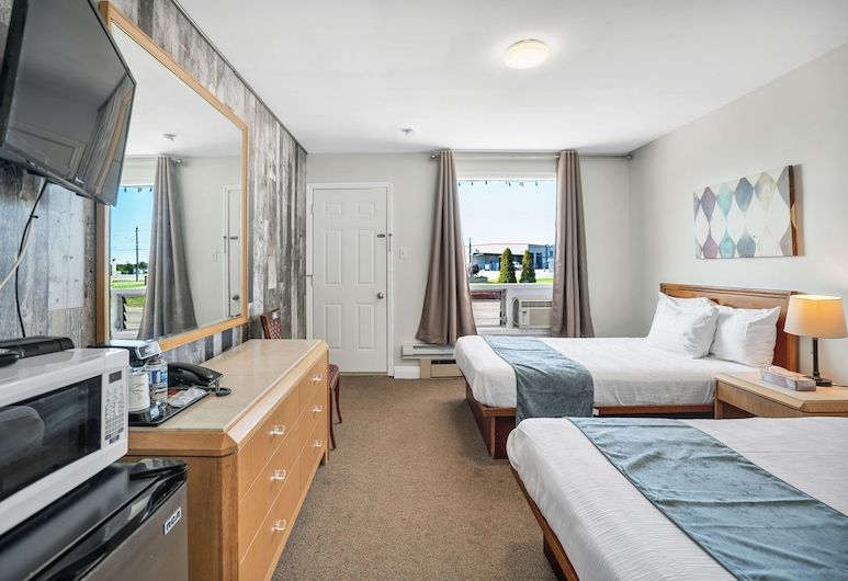 Seaway Motel, Port Colborne, Zimmer, 2Doppelbetten, Zimmer