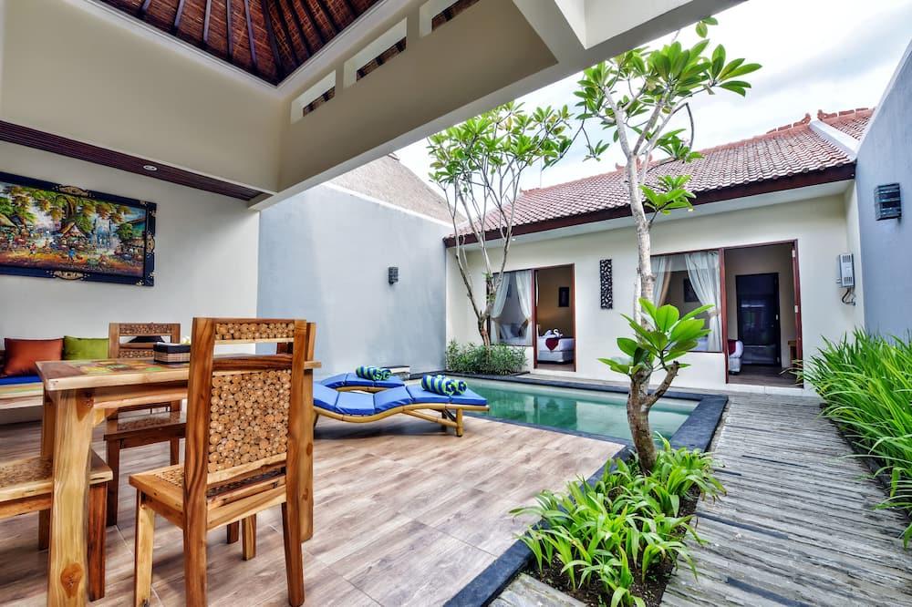 Villa, 2 chambres, piscine privée - Coin séjour