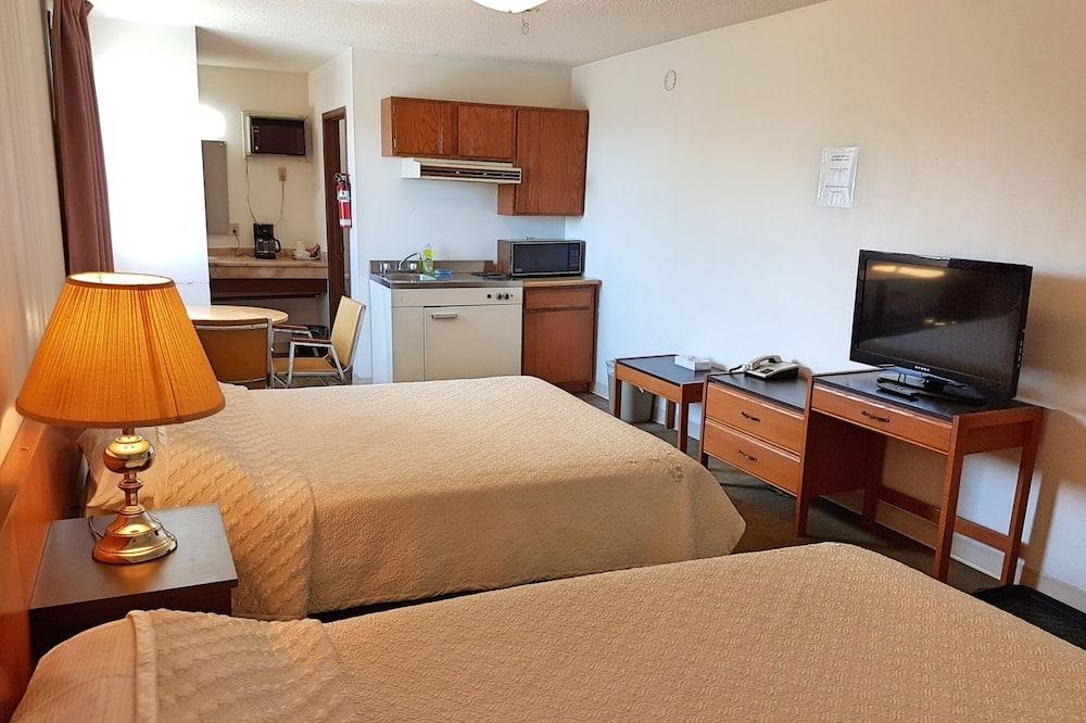 ห้องดับเบิล, เตียงควีนไซส์ 2 เตียง - มุมทำครัวในห้องพัก