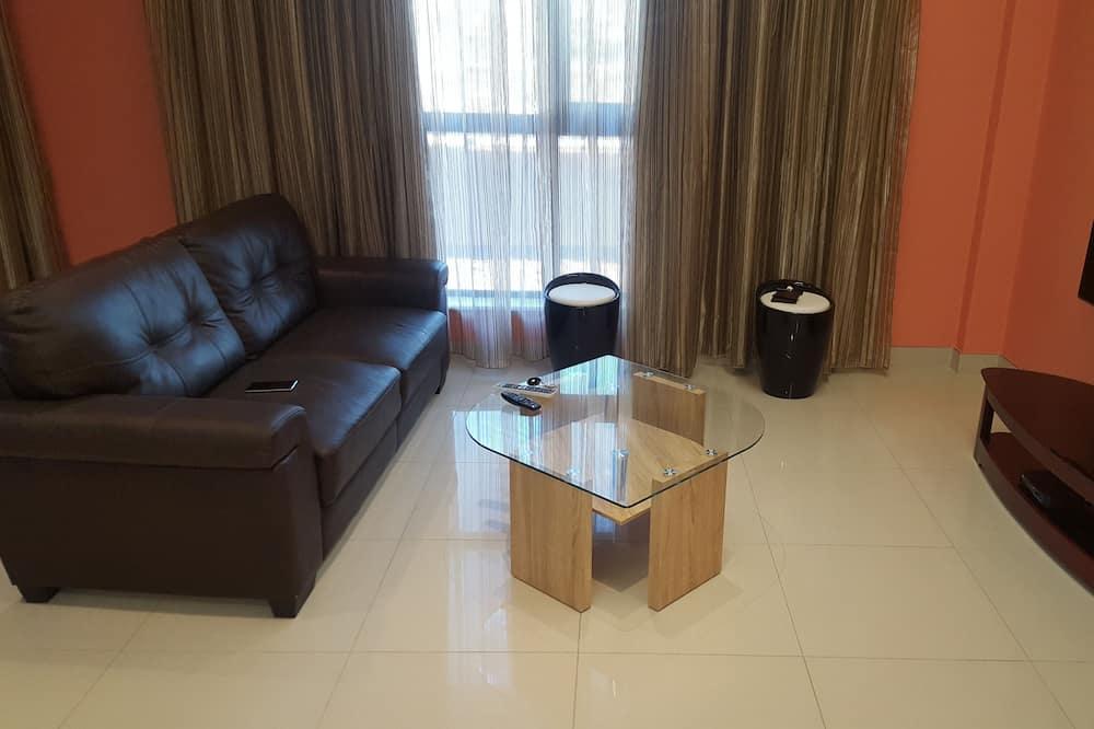 Luksus-lejlighed - 1 soveværelse - balkon - byudsigt - Stue