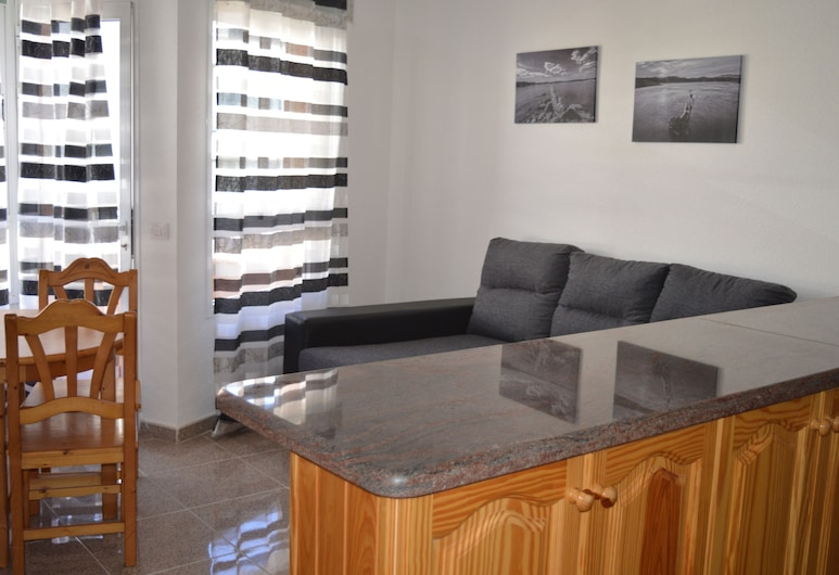 Edificio Playa Chica II, Granadilla de Abona, Apartment, 2Schlafzimmer, Balkon (Apartamento 1C), Wohnzimmer