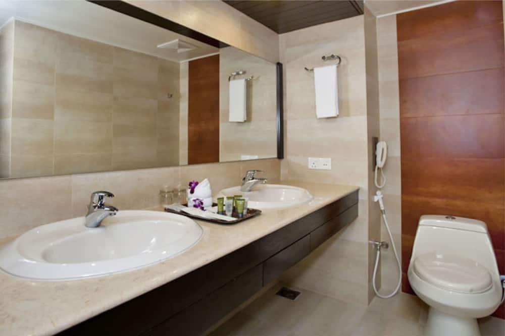 Apartmá typu Premium, dvojlůžko (200 cm), bezbariérový přístup, výhled na město - Koupelna