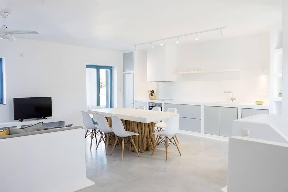複式房屋, 3 間臥室, 海景, 海濱 (Blue House 120m2) - 客房內用餐