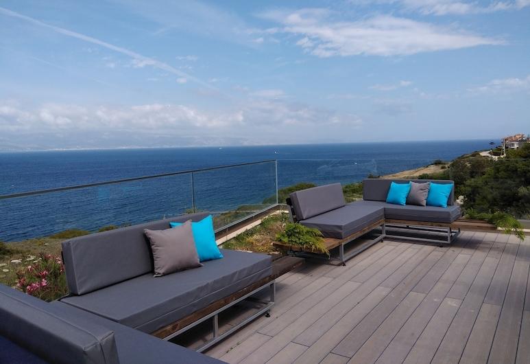 Mavi Panorama Butik Hotel, Cesme, Deluxe Oda, Jakuzi, Deniz Manzaralı (Terrace), Teras/Veranda