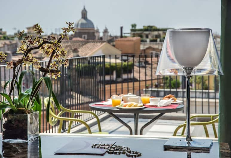 達茂索酒店, 羅馬, 頂層客房, 露台, 城市景, 陽台