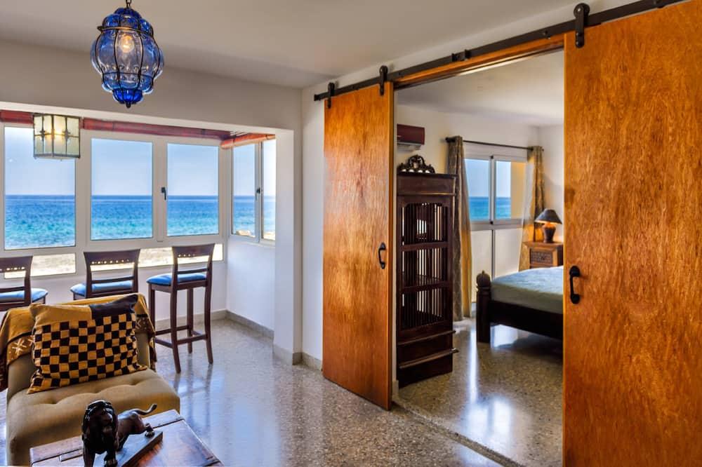 家庭公寓客房, 3 間臥室, 海景 - 客廳