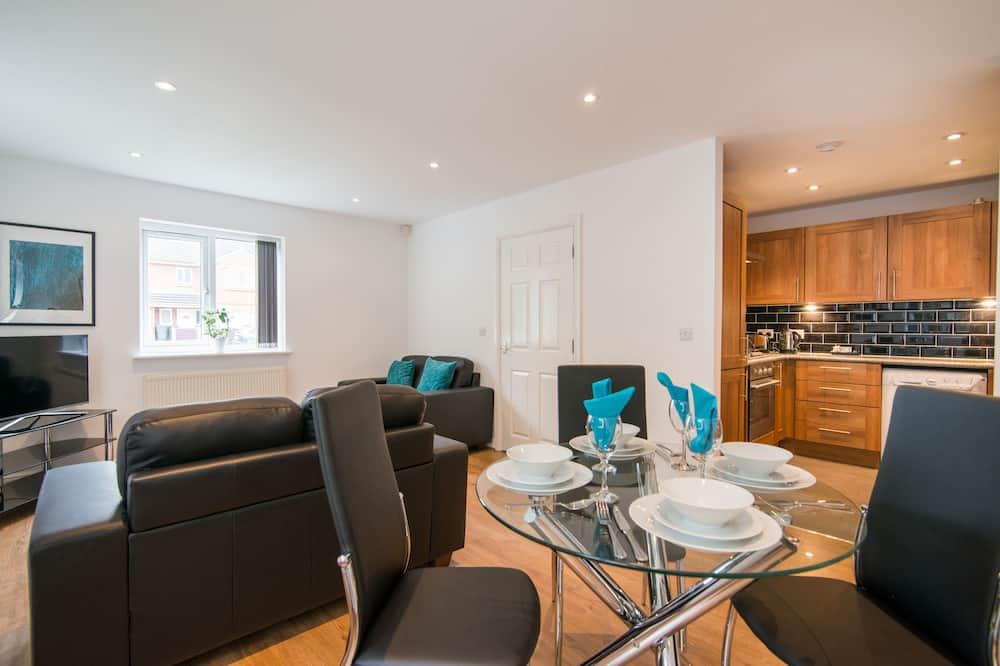 Apartmán, 2 ložnice, přízemí (Garden) - Obývací pokoj