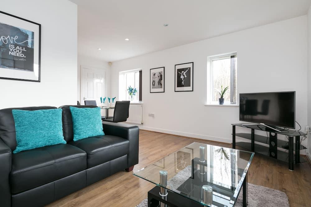 Apartmán, 2 ložnice (Garden - First Floor) - Obývací prostor