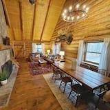 Cabaña, 3 habitaciones, patio - Sala de estar