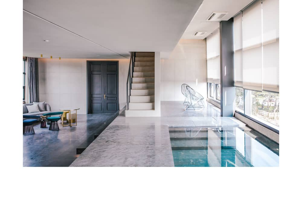 Luxury Penthouse, 2 Bedrooms, Seongsan Ilchulbong View - 客廳