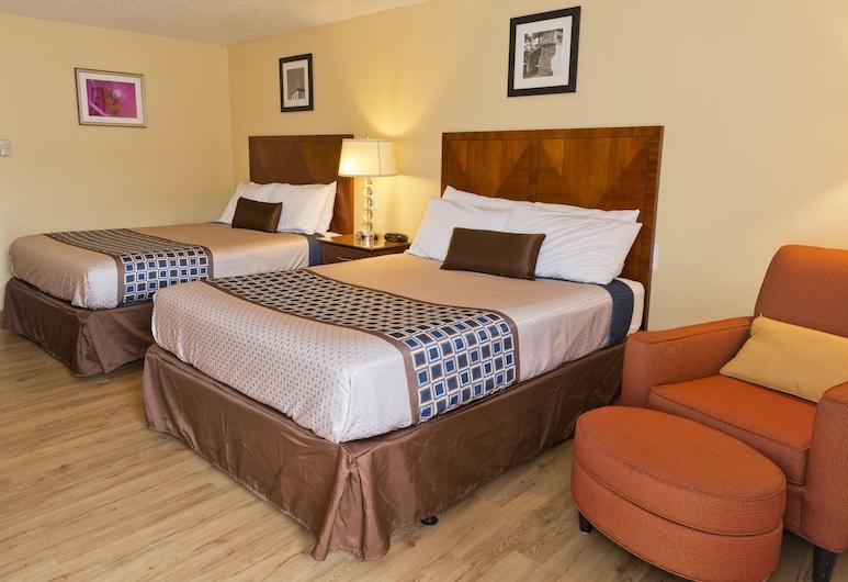 Riviera Inn Motel, Port Angeles, Zimmer, 2Queen-Betten, Zimmer