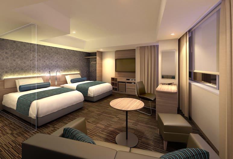 KEIKYU EX INN Haneda, Токио, Номер с 2 односпальными кроватями, для некурящих (EX, Room for 3 or 4 Only, 36m²), Номер