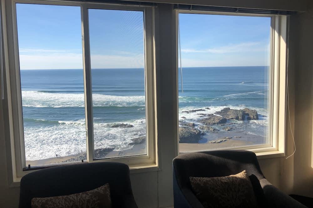 Estudio, 2 camas de matrimonio, cocina básica, vistas al mar (not pet friendly) - Habitación