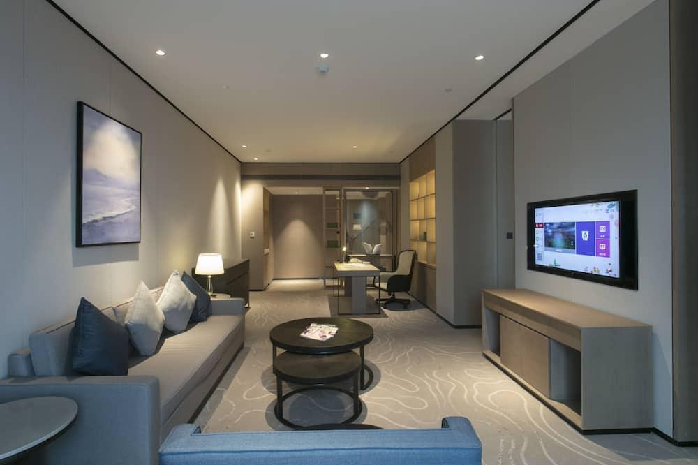 Paaugstināta komforta luksusa numurs, 1 divguļamā karaļa gulta - Dzīvojamā zona