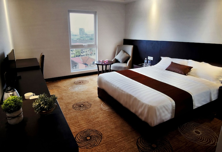 InnB Park Hotel, קואלה לומפור, חדר דה-לוקס, מיטת קווין, נוף מחדר האורחים