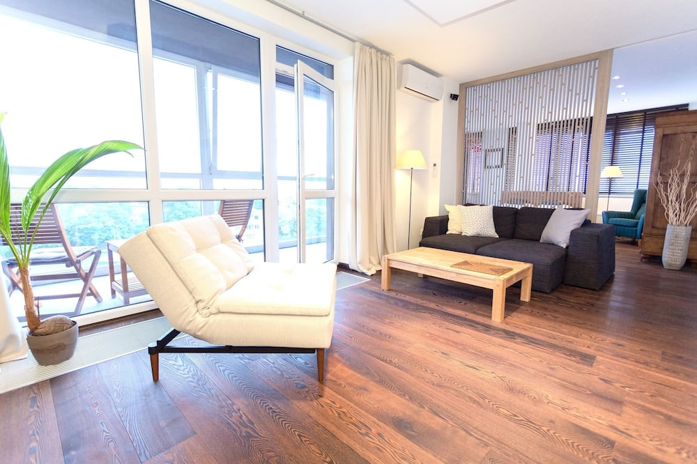 Apartment, Accessible, City View - Living Area