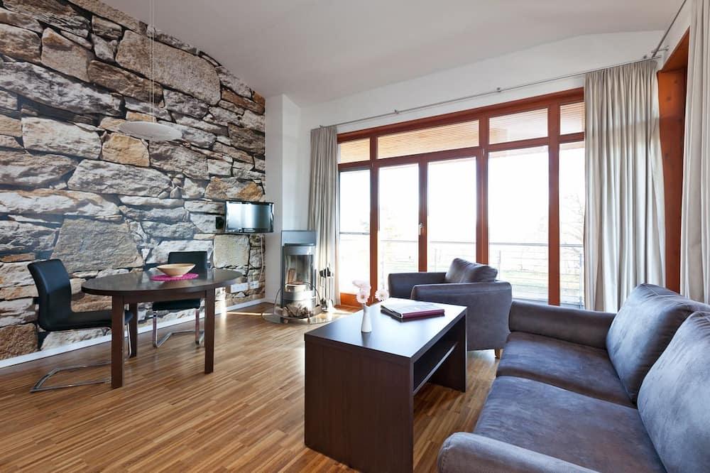 Exclusief appartement, 1 slaapkamer, kitchenette, Aan het meer - Woonruimte