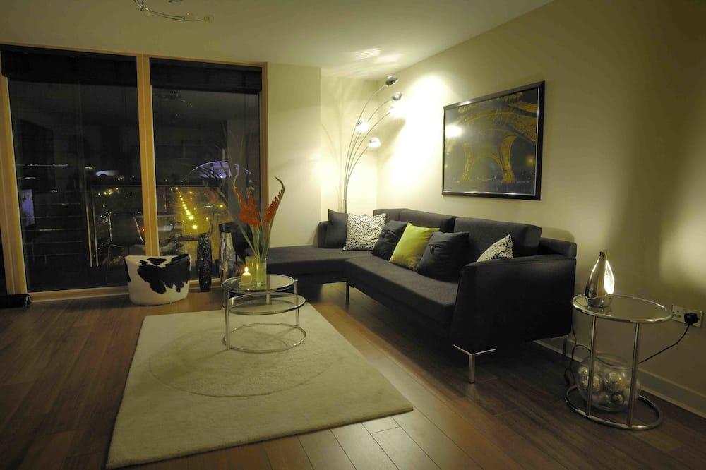 Căn hộ trung tâm thành phố, 1 phòng ngủ - Phòng khách