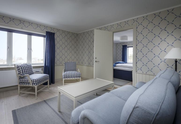 Hotel Bretagne, Hornbaek, Superior Suite, 1 Katil Ratu (Queen), Ocean View, Ruang Tamu