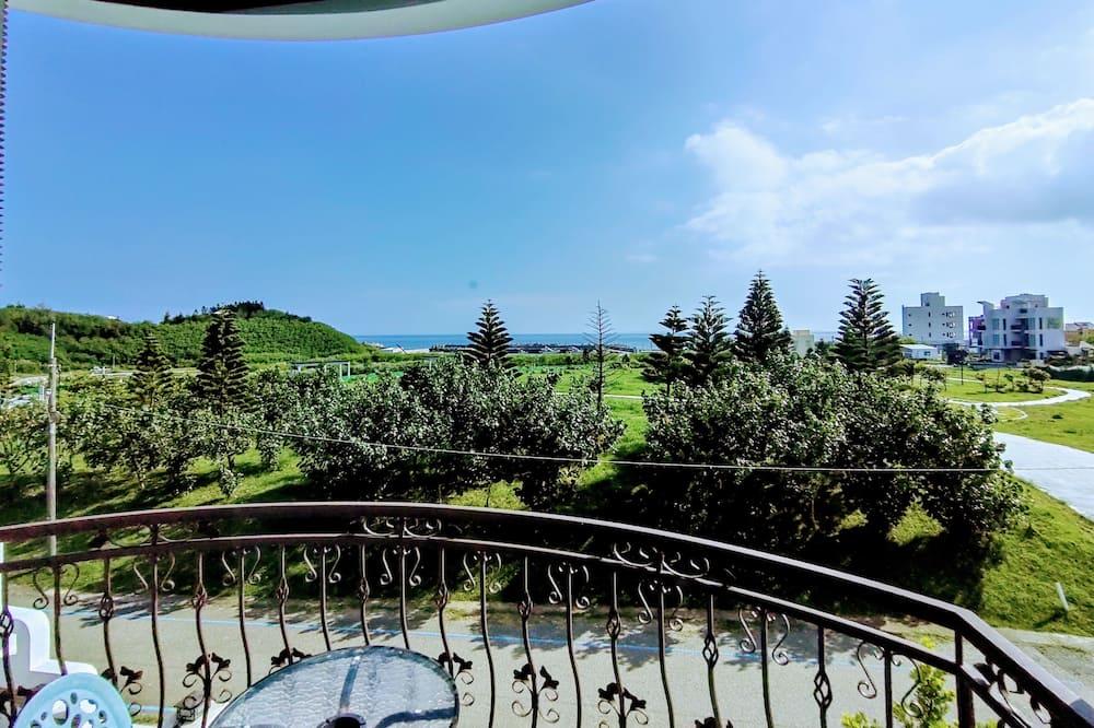 高級四人房, 海景 - 露台
