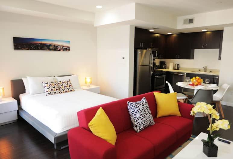 DTLA Grand Residences, Los Angeles, Štúdio typu Comfort, 1 veľké dvojlôžko s rozkladacou sedačkou, výhľad na mesto, Izba