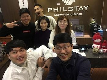 在首尔的明洞站菲尔住宿青年旅舍照片