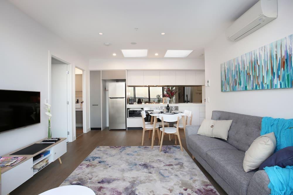 apartman, 2 hálószobával, kilátással a városra (Northcote Hill) - Nappali
