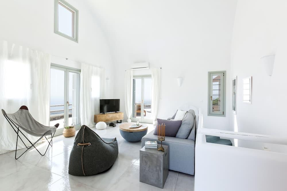 Villa, 3 habitaciones, bañera de hidromasaje, vista al mar - Sala de estar