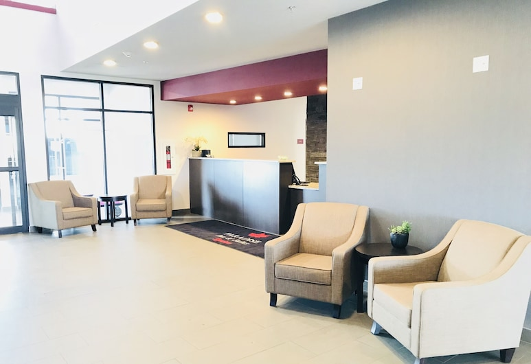 Paradise Inn and Suites Leduc/Edmonton International Airport, Leduc, Zona con asientos del vestíbulo