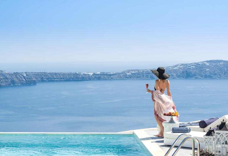 神話藍奢華套房酒店, 聖托里尼, 無邊際泳池