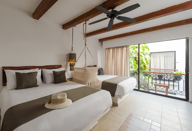 Banana Boutique Hotel, Playa del Carmen, Standard Double Room, 2 Double Beds, Guest Room View