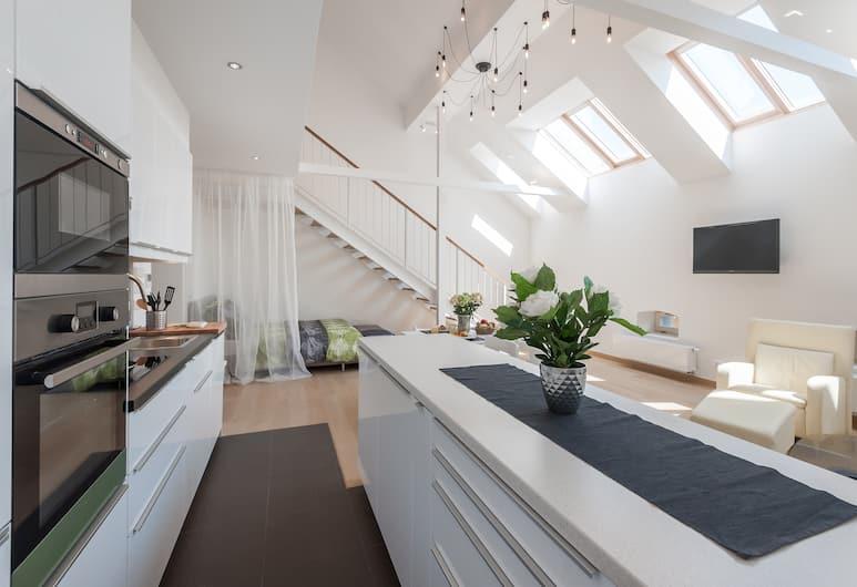 Soukenicka Apartment, Prague, Appart'hôtel Exclusif, 2 chambres, cuisine (Apt 1), Coin séjour