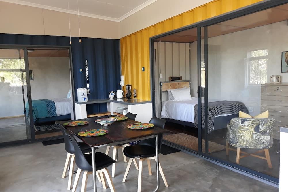Liukso klasės vasarnamis, 2 miegamieji, vaizdas į kalnus - Vakarienės kambaryje