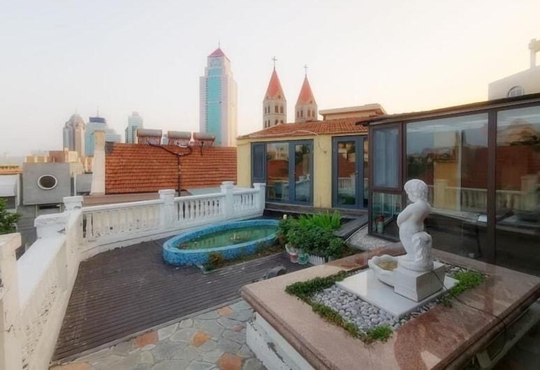 Ou Lu Business Hotel, Qingdao, Quarto Panorâmico, Terraço/Pátio Interior