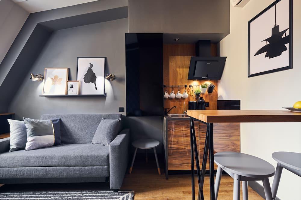 Apartament rodzinny typu Suite, taras - Powierzchnia mieszkalna