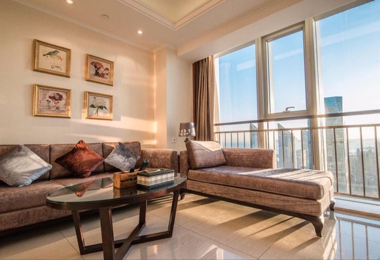 Yue Lan Hotel Apartment Zhong Tie Centre, Qingdao, Suite Deluks, Area Keluarga