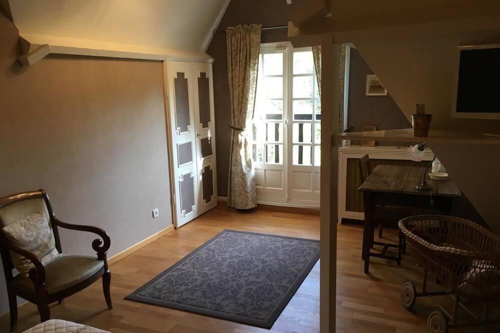 חדר זוגי, נוף לגן (Cannelle) - אזור מגורים