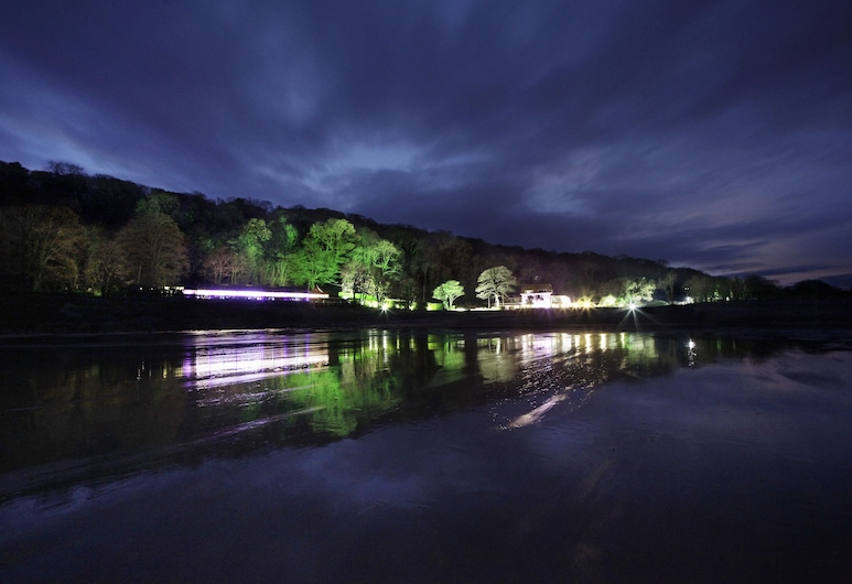 Oxwich Bay Hotel, Swansea, Hotel Front – Evening/Night