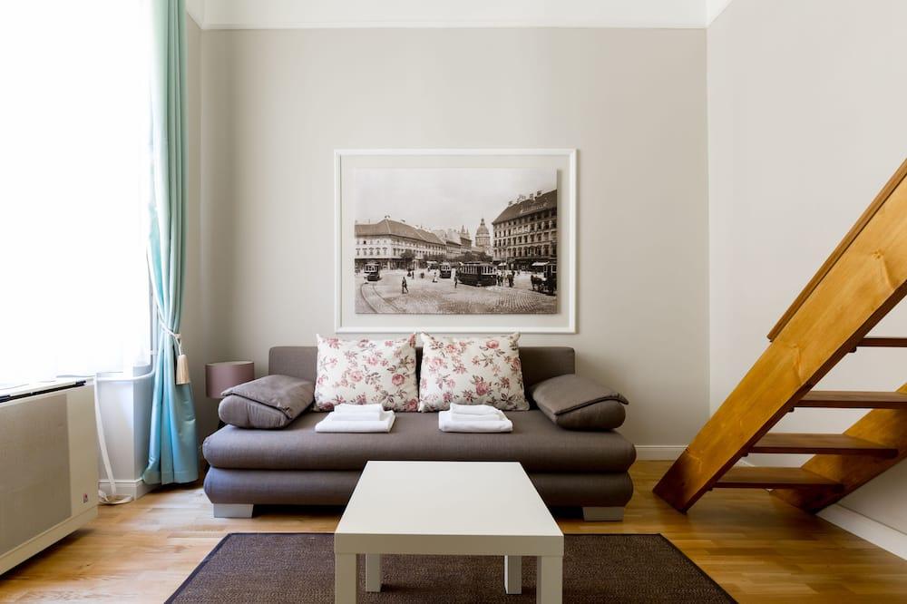 Studio Premium, 1 Tempat Tidur Queen, lantai mezzanine - Area Keluarga